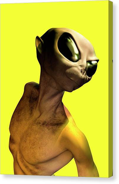 Alien, Artwork Canvas Print by Victor Habbick Visions