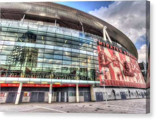 Arsenal Fc Canvas Print - Arsenal Fc Emirates Stadium London  by David Pyatt