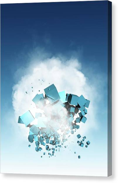 Cloud Computing, Conceptual Artwork Canvas Print by Victor Habbick Visions