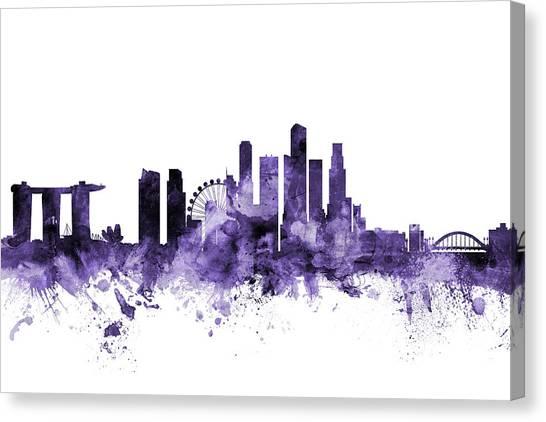 Singapore Skyline Canvas Print - Singapore Skyline by Michael Tompsett