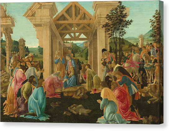 Botticelli Canvas Print - The Adoration Of The Magi by Sandro Botticelli