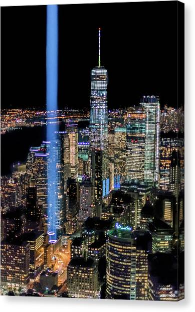 911 Lights Canvas Print