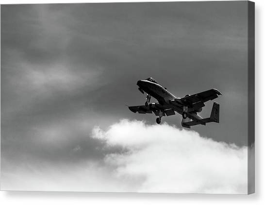 Canvas Print featuring the photograph A-10 Slow Pass by Doug Camara