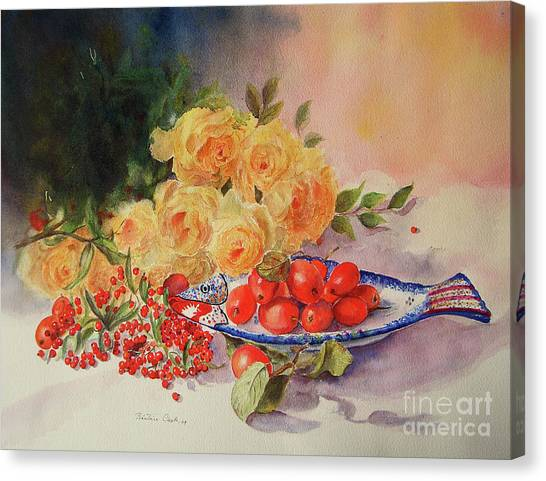A Berry Or Two, Watercolour Still Life Canvas Print