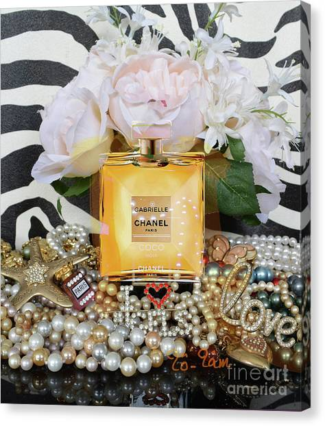 Jimmy Choo Canvas Print - A Bouquet For My Valentine 3 by To-Tam Gerwe