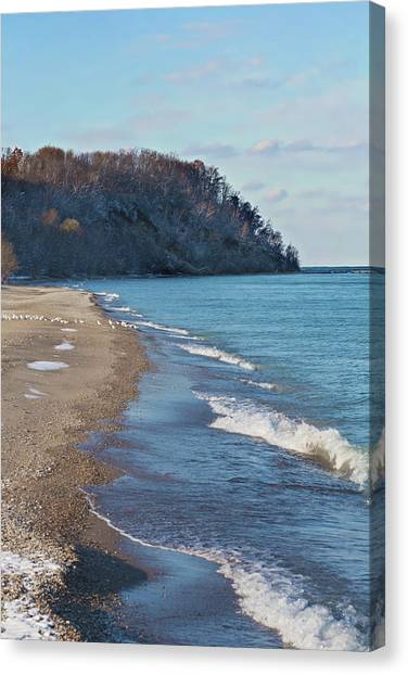 Canvas Print featuring the photograph A Brisk Morning by Kim Hojnacki