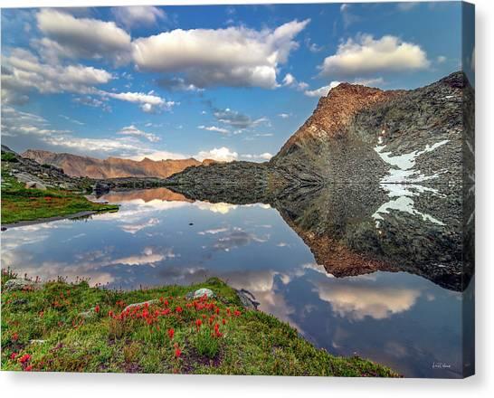 Altitude Canvas Print - A Calm Mountain Lake by Leland D Howard
