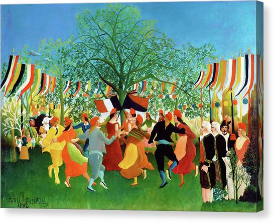 Centennial Canvas Print - A Centennial Of Independence - Digital Remastered Edition by Henri Rousseau