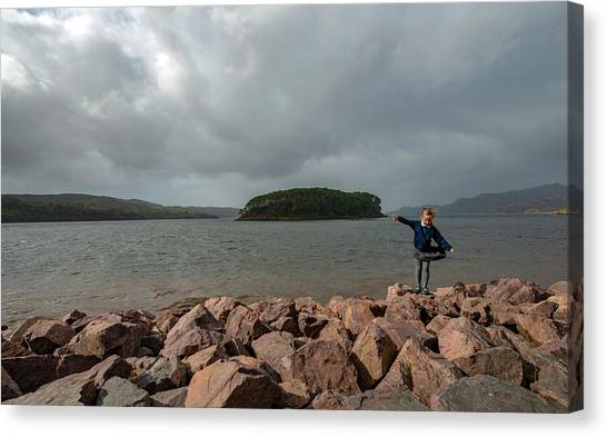 A Charming Little Girl In The Isle Of Skye 1 Canvas Print