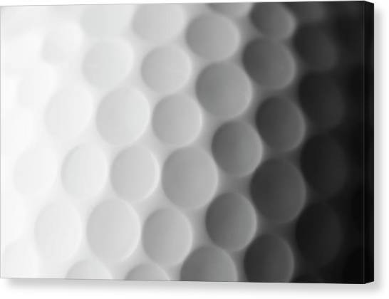 A Close Up Shot Of A Golf Ball, White Canvas Print