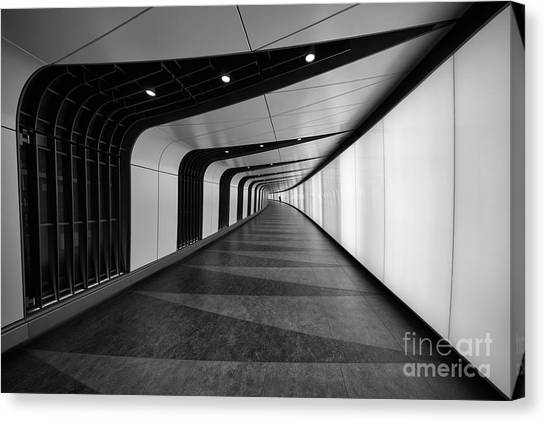 Empty Canvas Print - A Cool Underground Path Of Kings Cross by Roland Shainidze