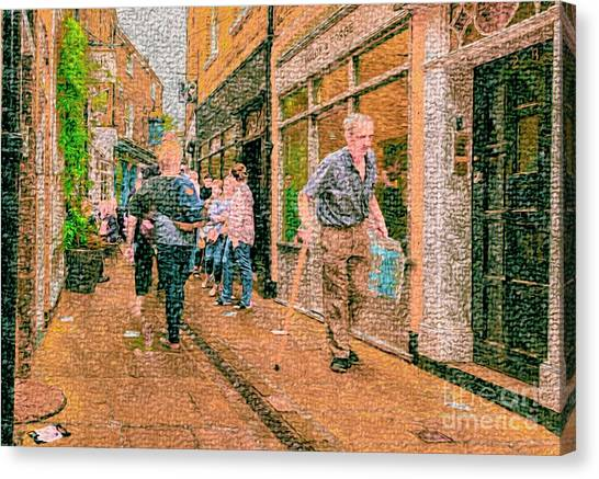 A Day At The Shops Canvas Print