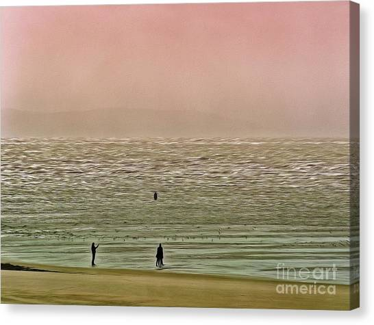 Canvas Print featuring the photograph A Distant Shore by Leigh Kemp
