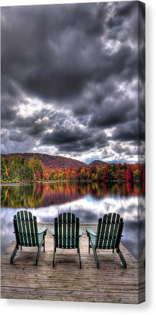 Canvas Print featuring the photograph A Fall Day On West Lake by David Patterson