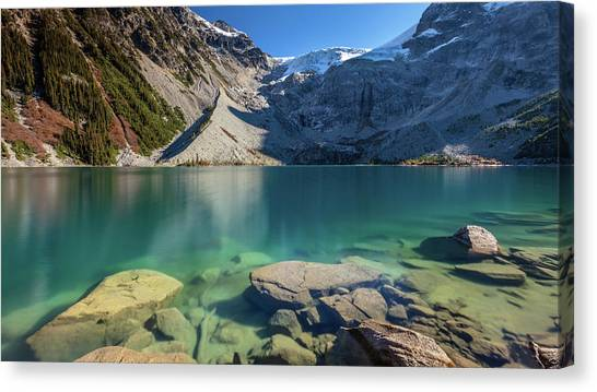 Canvas Print featuring the photograph A Gem In The Mountains by Pierre Leclerc Photography