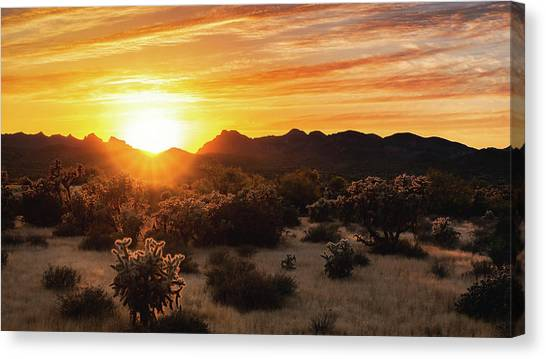 Canvas Print - A Golden Sunset  by Saija Lehtonen