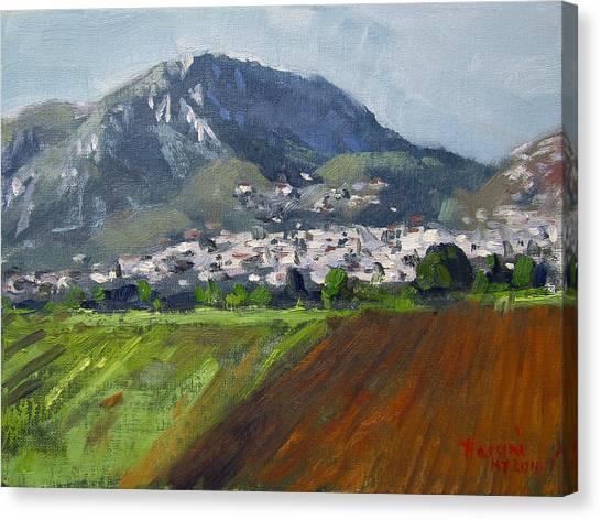 Greek Art Canvas Print - A Greek Village by Ylli Haruni