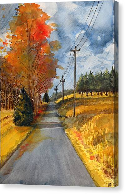 A Happy Autumn Day Canvas Print