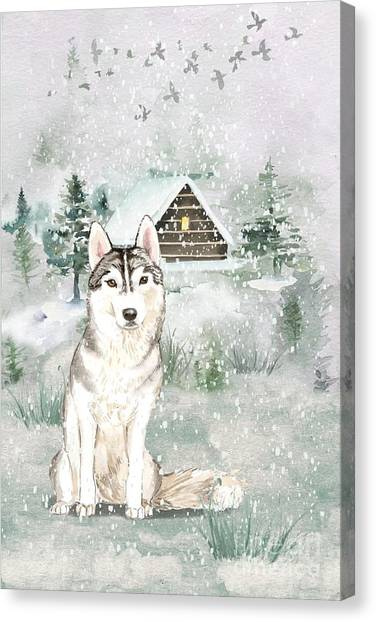 Purebred Canvas Print - A Winters Tail by John Edwards