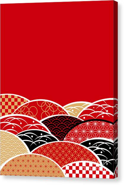 A Japanese Style Background Of Japan Canvas Print by Rie Sakae