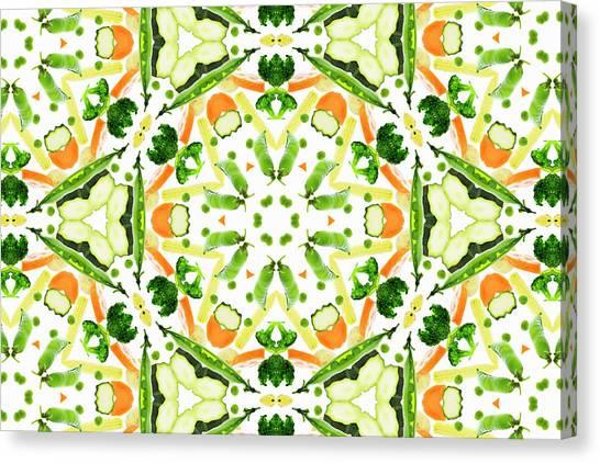 A Kaleidoscope Image Of Fresh Vegetables Canvas Print