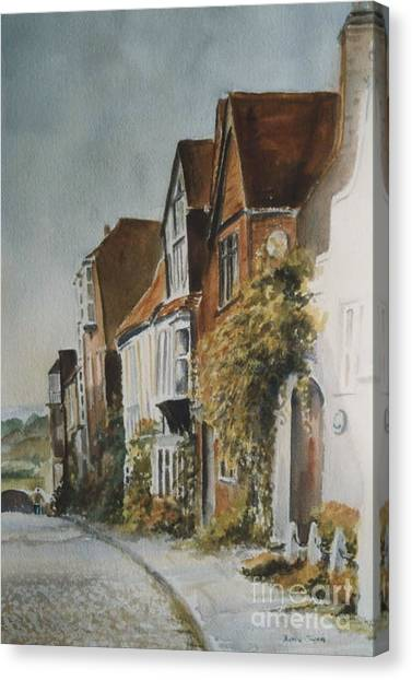 A Lane In Rye, East Sussex Canvas Print