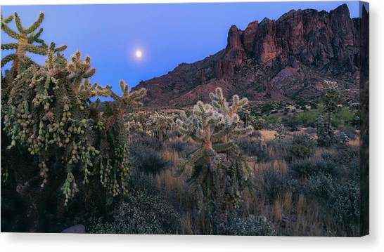 Canvas Print - A Moonlit Evening In The Supes  by Saija Lehtonen