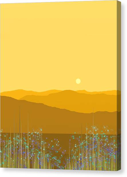 A Mountain Meadow Canvas Print