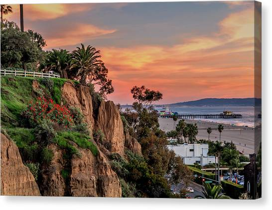 A Nice Evening In The Park Canvas Print