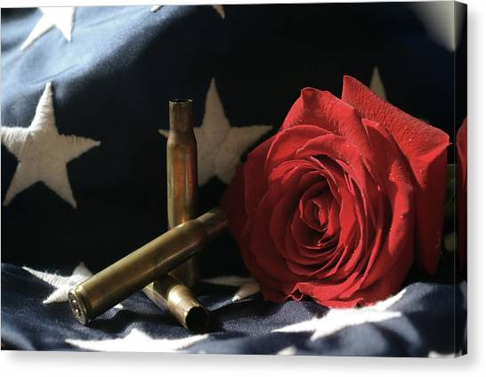 A Patriots Passing Canvas Print
