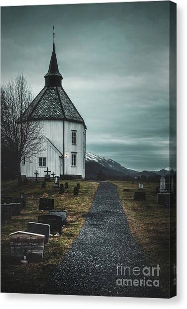 Chapel Canvas Print - A Prayer For Time by Evelina Kremsdorf