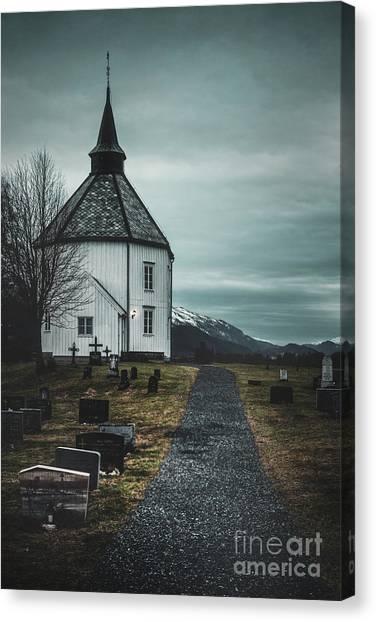 Cemetery Canvas Print - A Prayer For Time by Evelina Kremsdorf