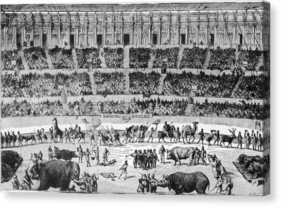 A Roman Circus Canvas Print by Hulton Archive