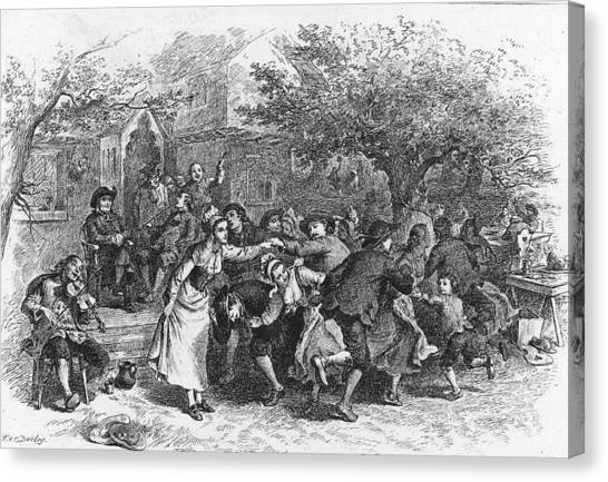 A Scene From Evangeline Canvas Print by Kean Collection