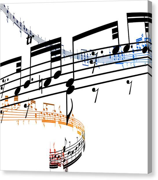 A Stave Of Music Canvas Print by Ian Mckinnell