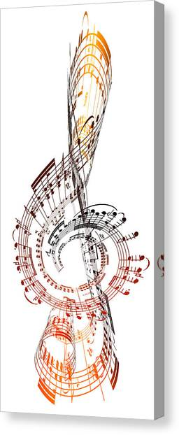 A Treble Clef Made From Sheet Music Canvas Print by Ian Mckinnell