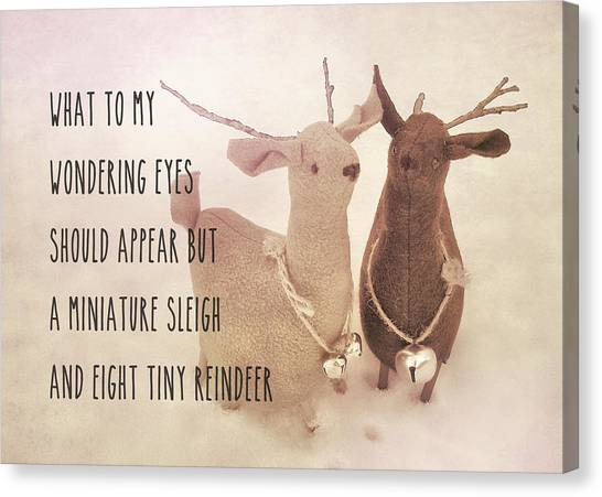 A Visit From Saint Nicholas Quote Canvas Print by JAMART Photography