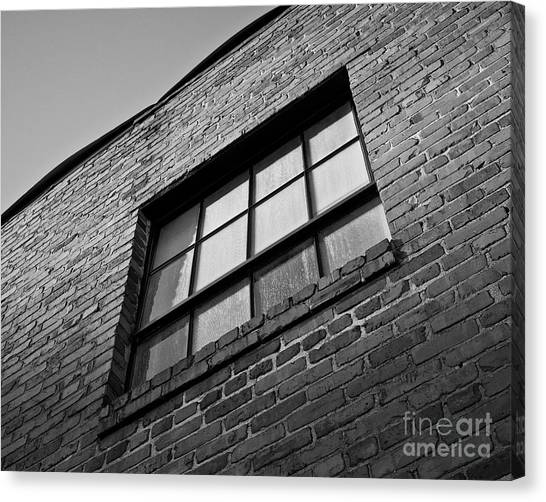 Canvas Print featuring the photograph A Winston Window by Patrick M Lynch