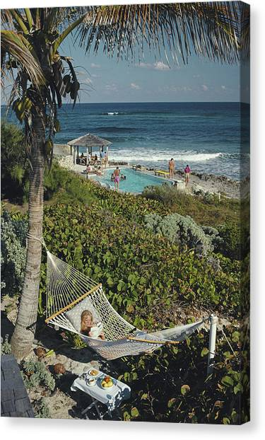 Abaco Holiday Canvas Print by Slim Aarons