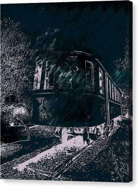 Abandoned Train Canvas Print
