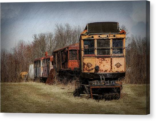 Railroads Canvas Print - Abandoned Train by Tom Mc Nemar