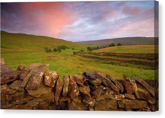 Above Kettlewell After Sunset Canvas Print by Pixelda Picture License