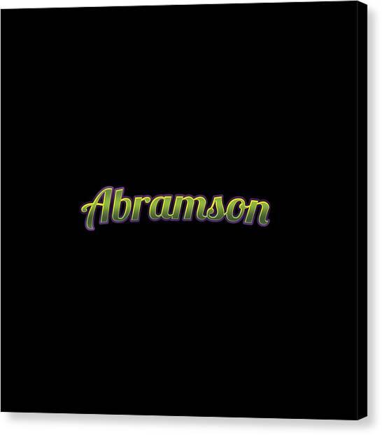 Canvas Print - Abramson #abramson by TintoDesigns
