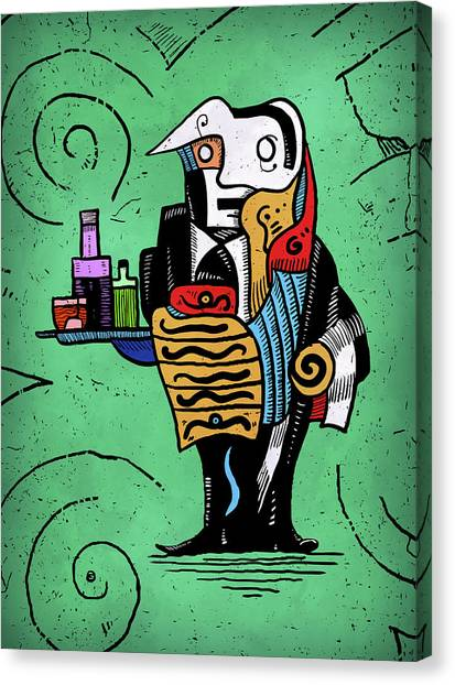 Canvas Print featuring the painting Absinthe by Sotuland Art