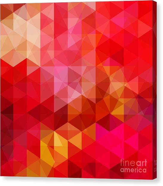 Empty Canvas Print - Abstract Background Consisting Of Red by Tashechka