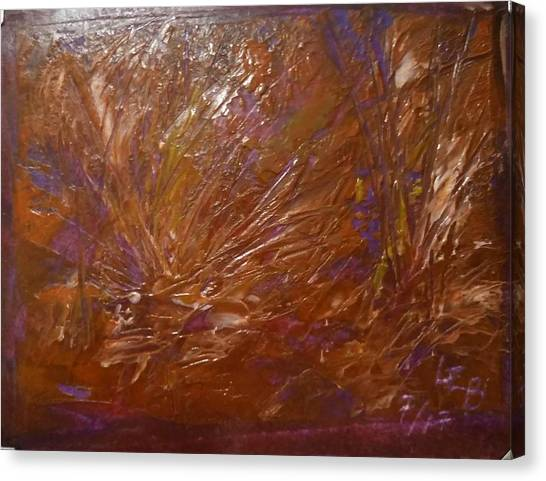 Abstract Brown Feathers Canvas Print