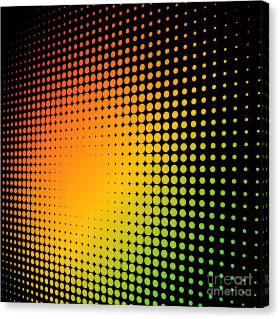 Texture Canvas Print - Abstract Colorful Halftone Background by Tuulijumala