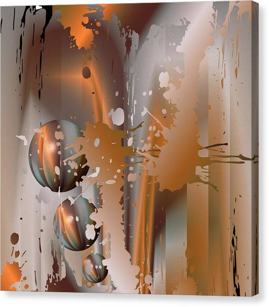 Abstract Copper Canvas Print