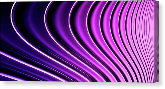 Abstract Curved Lines, Diminishing Canvas Print
