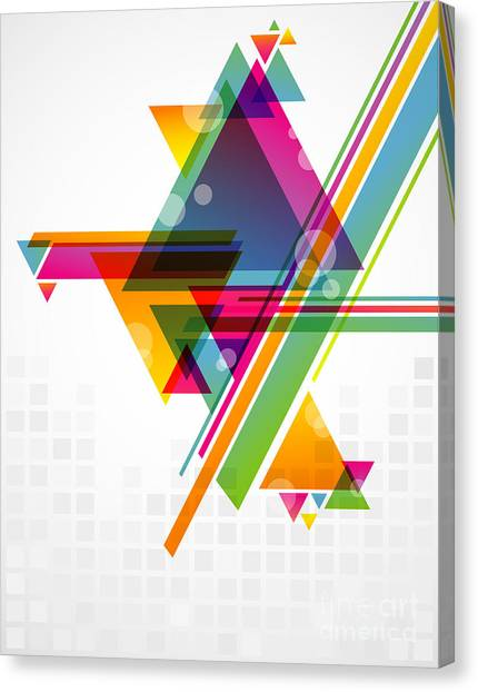 See Canvas Print - Abstract Geometric Shapes With by Artplay